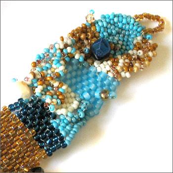 Sharon Argabright Jewelry Designs Bracelets Free Form Seed Bead